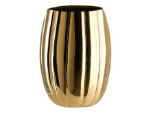 A Simple Mess Venosa Vase Dia. 11,5 x 16 cm brass